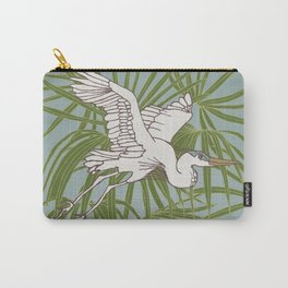 Heron & Botanical Bird Illustration Series Carry-All Pouch