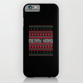 Uglysweater Merry Xmas Chrsitmas Party Outfit iPhone Case