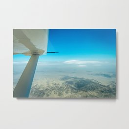Flying over the Nazca Lines Metal Print