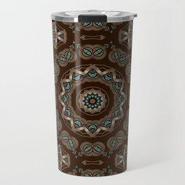 Art Deco number 7. Round ornament. Travel Mug