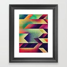 fyntysy dye Framed Art Print