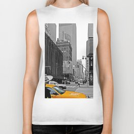 NYC - Yellow Cabs - The City Biker Tank