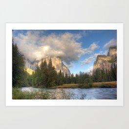 Yosemite Valley Haze, October 2010 Art Print