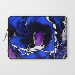 Deep ocean Marble aqrylic Liquid paint art Laptop Sleeve