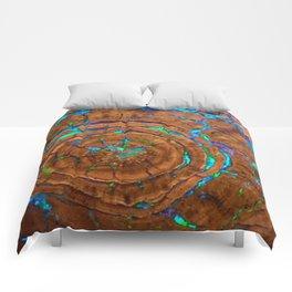 Sea of blue opal Comforters