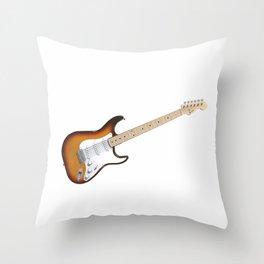 Sunburst Electric Guitar Throw Pillow