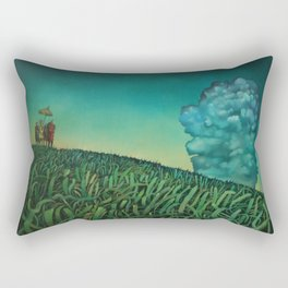 Cluster in the bluster Rectangular Pillow