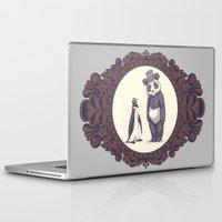 darwin Laptop & iPad Skins featuring Charles and Darwin by The Batty Bird