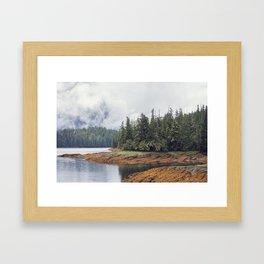 Scenic landscape  near Ketchikan Alaska. Framed Art Print
