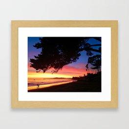 """""""A Sunset Walk"""" Butterfly Beach at the Four Seasons Resort. Framed Art Print"""