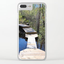 Crossing The Swamp Clear iPhone Case