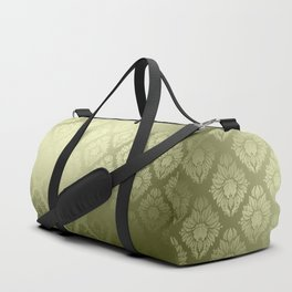 """Olive Damask Pattern"" Duffle Bag"