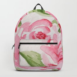 Whimsical Pink Roses Backpack