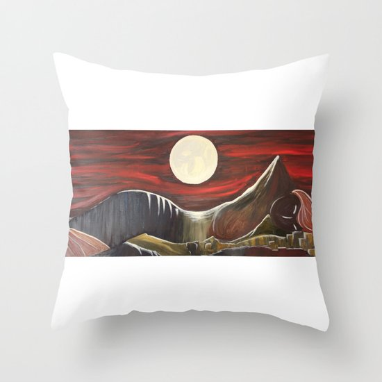 Gaia and Luna Grande Throw Pillow