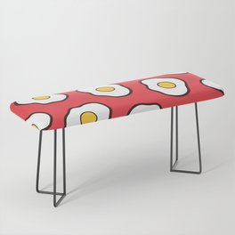 Fried Eggs Pattern Bench