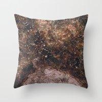 fireflies Throw Pillows featuring Fireflies by Alexis Hilliard