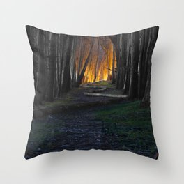 Haunted Forest and Andrew Goldsworthy Sculpture Throw Pillow