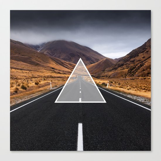 Route Triangle Canvas Print