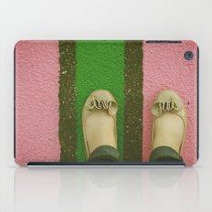 vintage pink & green iPad Case
