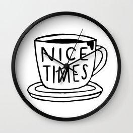 Nice Times Coffee Wall Clock