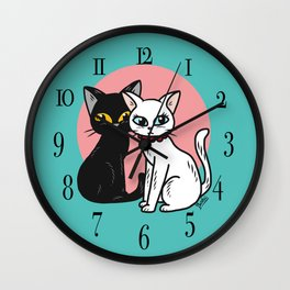 Lover cats Wall Clock