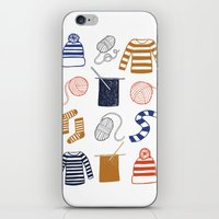 knitting iPhone & iPod Skins featuring Knitting by Holly Dunn Design