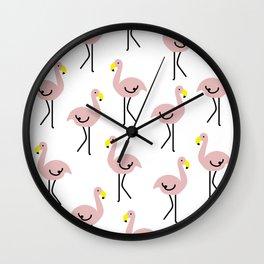 Flamingo rush Wall Clock