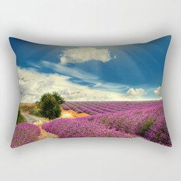 Beautiful image of lavender field Rectangular Pillow