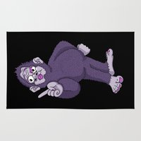 sassy Area & Throw Rugs featuring Sassy Squatch by Chris Piascik