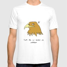 The Eagle and England White Mens Fitted Tee SMALL