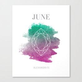 June Alexandrite Canvas Print
