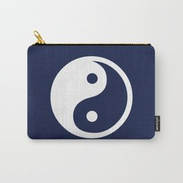 Navy Blue Yin Yang Carry-All Pouch