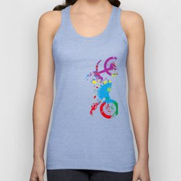 Colored Motorcycle  Unisex Tank Top