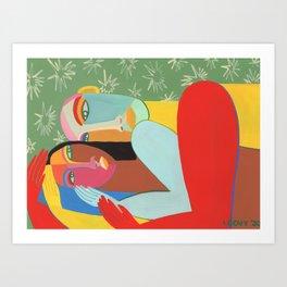 Hugs at Night Art Print