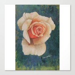 White Rose - in watercolor Canvas Print
