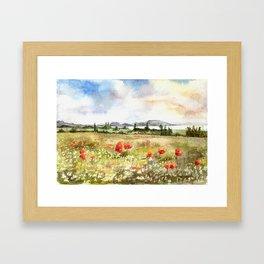 Poppies at the Lake Balaton Framed Art Print