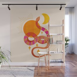 Abstraction_SUN_MOON_SNAKE_Minimalism_001 Wall Mural