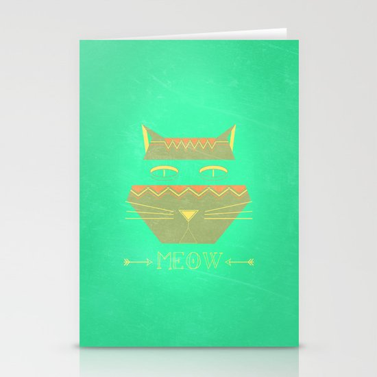 almost in cognito meow Stationery Cards