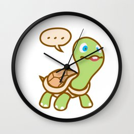 Thinking Turtle Wall Clock