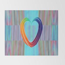 Fractal Art- Pattern Art- Heart Art- Blue Hearts-Pixxie Stixx- LGBT Art- Love- Healing Energy Art Throw Blanket