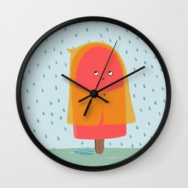 Ice lolly under the rain Wall Clock