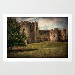Chepstow Castle Towers Art Print
