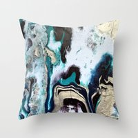 orca Throw Pillows featuring Orca by Lauren Yonenson