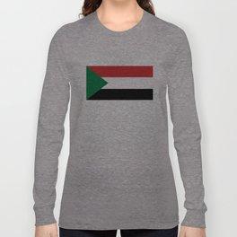 Sudan country flag Long Sleeve T-shirt