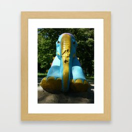 Stone elephant. Framed Art Print