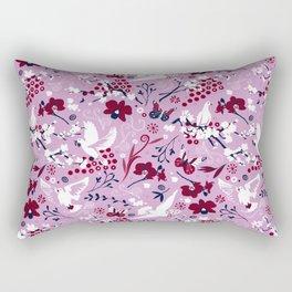 Hopeful carrier doves Rectangular Pillow