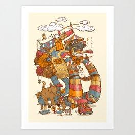 Circusbot Art Print