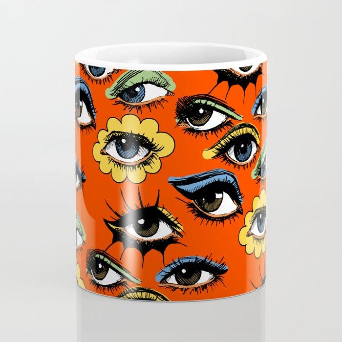 60s Eye Pattern Coffee Mug