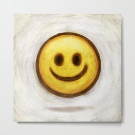 Simply Smile Metal Print