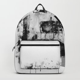 cassette / tape Illustration black and white painting Backpack